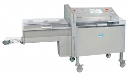 Model 109PC Electronic Horizontal Slicer w/ optional Take-away Conveyor shown