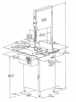 Illustration B – Model 3334SS-4003 Standard Configuration Illustration shown with optional Stainless Steel head and door structure.