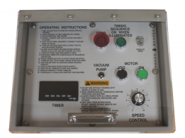 Optional- VTS-100/500 Quick Access Hinged (water-protected) Control Panel Cover - Recommended in water jet wash environments.